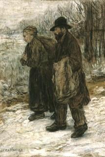 Gemälde: Pariser Lumpensammlerpaar