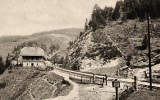 sw Foto: an der Schwarzwaldbahnstrecke -1910
