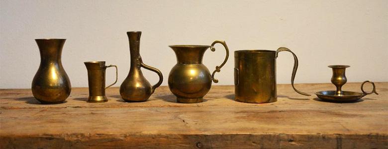 Farbfoto: Vasen, Kännchen, Kerzenhalte