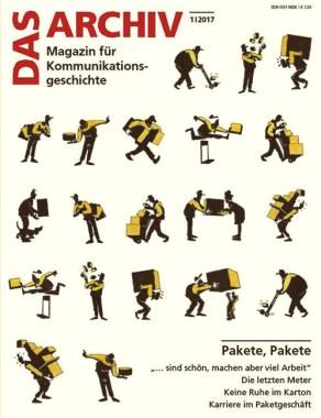 Magazin-Cover: 20 Pictogramme zeigen diverse Tätigkeiten eines Paketmännchens