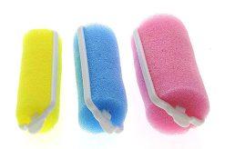 Farbfoto: Schaumstoffwickler in verschiedenen Größen und Farben