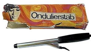 Farbfoto: Ondulierstab und Verpackung - 1970, DDR
