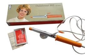Farbfoto: Ondulierstab und Verpackung - 1975