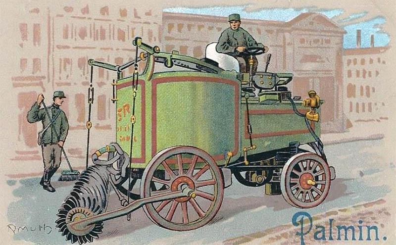 Sammelbild: Straßenreinigungsmaschine