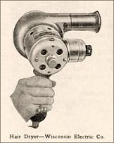 sw Zeichnung: Haartrockner (Handgerät)