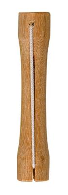 Foto: italienischer Lockenwickler aus Holz mit Gummiband