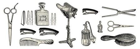 Zeichnung: diverse Friseursachen
