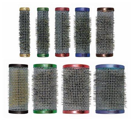 Farbfoto: Wickler aus Alugitter in 9 verschiedenen Durchmessern