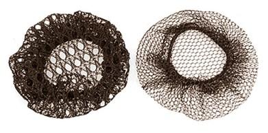 Farbfoto: 2 verschieden strukturierte Haarnetze
