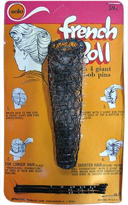 Farbfoto: Pappkarte mit konischem Vertikal-Drahtwickler mit Borsteneinlage - 1950, USA