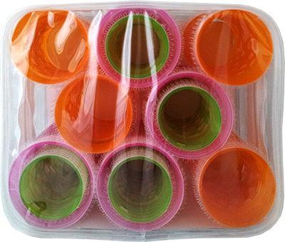 Farbfoto: Volumen-Haftwickler in 3 Größen aus Kunststoff in Plastikbox - 2000, England