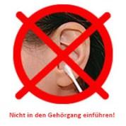 Text: Nicht in den Gehörang einführen!
