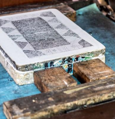 Stein mit Zeichnung