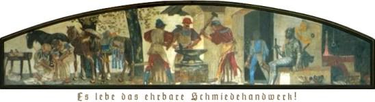 altes Fresko: verschieden Schiedeszenen