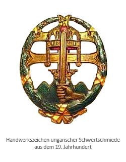 19. Jh - 'Handwerkszeichen ungarischer Schwertschmiede'