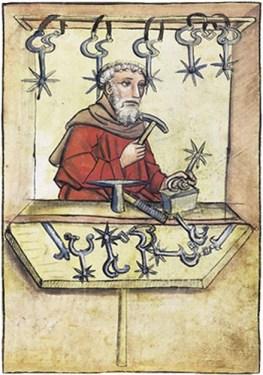 Buchmalerei: Enders fertigt Sporen an - 1457