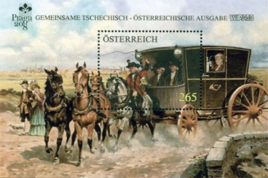 Sonderbriefmarke: Historische Reisereitkutsche