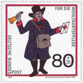Briefmarke: Fußbote kündigt sein Kommen mit Handglocke an - 1808