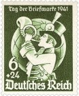 Briefmarke: Postillion bläst in Horn