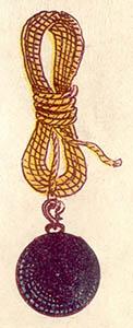 illu: schwere Kugel am Seil