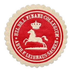 runde Siegelmarke: Leihaus Sachsen - um 1900