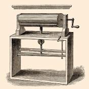 Kupferstich: grafische Darstellung der Maschine - 1750
