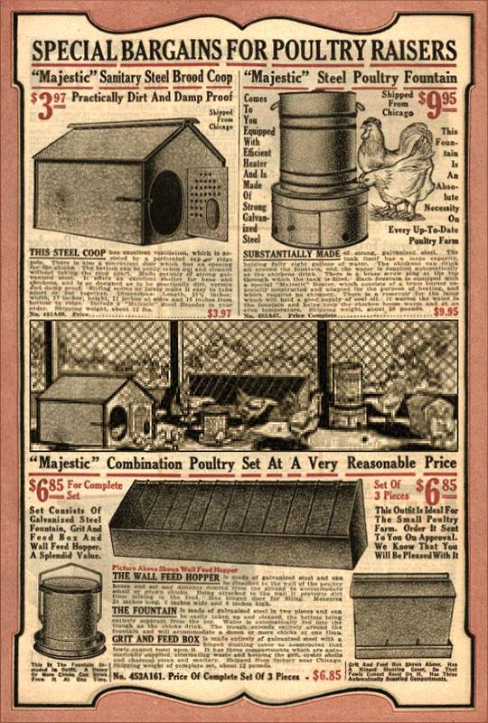 Werbanzeige: Vorrichtungen für Geflügelzucht - 1921, USA