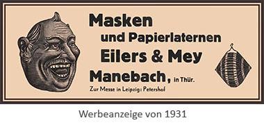Werbeanzeige: 'Eilers & Mey' - 1931, Manebach