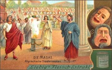 Sammelbild: Altgriechische Theatermasken