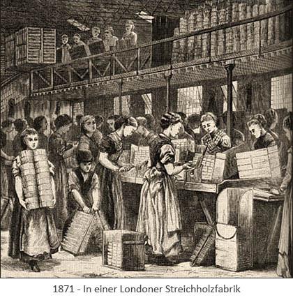 illu: Arbeitende in Streichholzfabrik