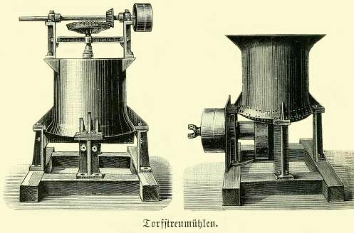 Zeichnung; zwei Mühlen