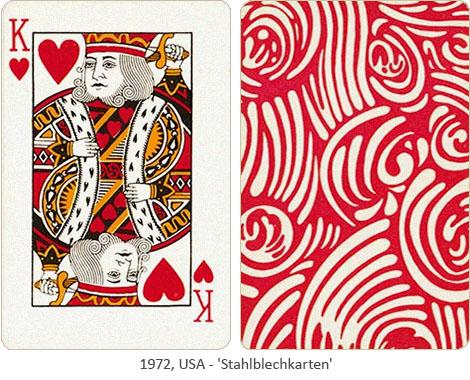 Farbfoto: Stahlblechkarten - 1972, USA