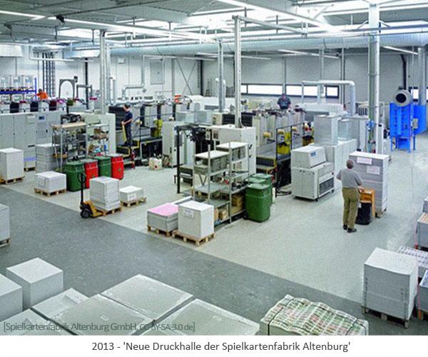 Farbfoto: Neue Druckhalle der Altenburger Spielkartenfabrik - 2013