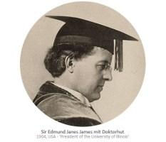 sw Foto: Sir E. J. James mit Doktorhut - 1904, USA
