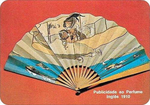 spanisches Sammelbild mit engl. Fächer von 1910