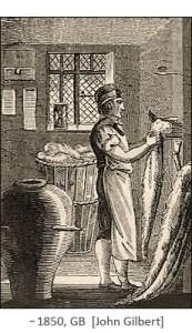 Holzstich: Der Wollkämmer ~1850, GB