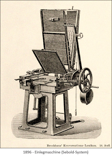 Stahlstich: Einlegmaschine