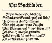 Originaltext 'Der Buchbinder' - 1568