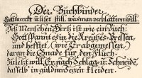 Originaltext 'Der Buchbinder' - 1698