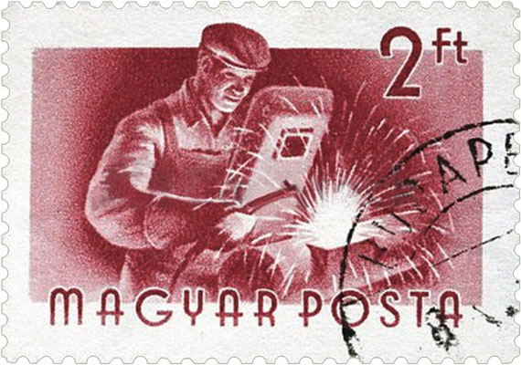 Briefmarke: Schweißer - 1955, Ungarn