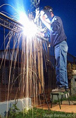Farbfoto: Lichtbogenschweißen - 2007, ES