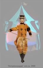 Puppe: Dompteur mit Stock und Zylinder ~1900