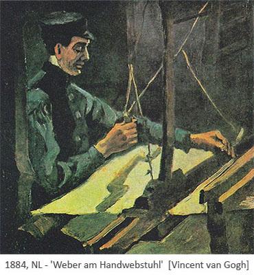 Gemälde: Weber am Handwebstuhl - 1884, NL
