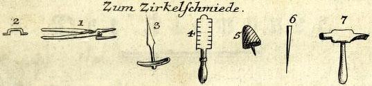Werkzeuge des Zirkelschmieds