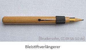 Farbfoto: Holzhülse mit Feststellring zur Verlängerung kurzer Stifte