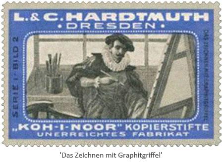 Reklamemarke: 2 - Das Zeichnen mit Graphitgriffel