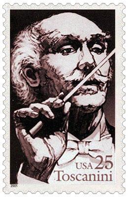 Briefmarke: Arturo Toscanini mit Taktstock - 2001, USA