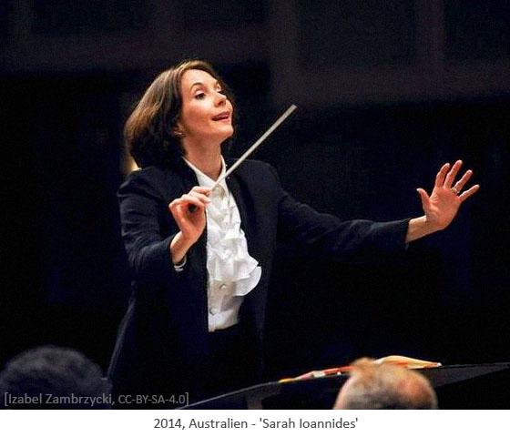 Farbfoto: Dirigentin Sarah Ioannides - 2014, Australien