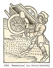 Holzschnitt: mittelalterlicher Sandmann - 1491