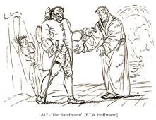Zeichnung: Illustration zur Novelle 'Der Sandmann' - 1817
